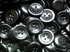 Large 28mm Black Chunky 44L Quality 4 Hole Buttons Various Pack Size Joblot BB43