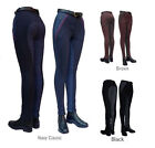 Gallop Childrens Classic Checked Riding Jodhpurs BARGAIN Clearance Brown & Blue