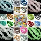 30Pcs Faceted Glass Crystal Loose Beads Spacer Rondelle Jewelry Findings 12x8mm