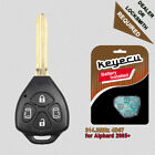 Replacement Remote Key Fob 4 Button 314.3MHz 4D67 for Toyota Alphard 2005 - 2009