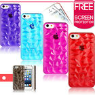 3D Diamond Hard Back Case Cover For Apple iPhone 5 5S Free Screen Protector