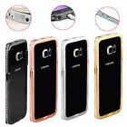 Crystal Rhinestone Metal Shell Bumper Fame Case Cover For Samsung Galaxy S6 eage