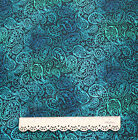 "Good Quality 1/2 meter by the yard Blue Peacock 100% Cotton Fabric 43.3"" TY"
