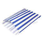 "BLUE CANDY STRIPE PAPER BAGS SWEET FAVOUR BUFFET GIFT SHOP PARTY 7"" x 9"""