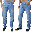 Mens Designer ETO Jeans Curved Leg Tapered Fit Denim Chinos Trousers Pants EM315