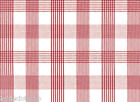 RED CHECK  VINYL PVC OILCLOTH WIPE CLEAN TABLECLOTH CO click for sizes