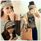Sweet Lovely Ladies Girls Bow Elastic Wide Hair Head Band  lace Accessory Sundry