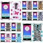 For LG Leo TUFF Hybrid Hard Soft Protective Dual Layer Case Skin Cover