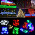 3M x 2M 210 LED String Fairy Curtain Net Lights Wedding X`mas Outdoor Garden