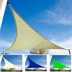TRIANGULAR GARDEN PATIO PARTY SUN SHADE SAIL CANOPY SUNSCREEN UV AWNING + CORDS
