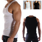 Top Quality 100% Premium Cotton Mens A-Shirt Wife Beater Ribbed Muscle Tank Top