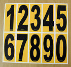 4 x Black numbers on Yellow background - European/OTK Karting Race Numbers
