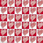 Hearts Check Tissue Paper 500mm x 750mm  Multi Listing