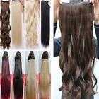 Professional Hair extensions one piece 5 CLIP in half head Wavy/Curly straight