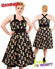 BANNED Distractions ~ Black VooDoo Doll Psychobilly Gothic Dress ~ Rockabilly