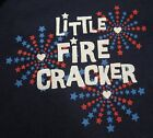 My Baby's 1st First 4th of July Patriotic Little Fire Cracker One Piece NB-18