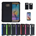 Hybrid Rugged Impact Protective Skin Case Cover for Samsung Galaxy S6 / S6 Edge