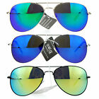 SA106 Color Revo Mirror Lens Metal Wire Rim Tear Drop Aviator Sunglasses