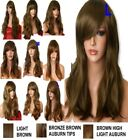 AUBURN GINGER Wig Natural Long Curly Straight Wavy Synthetic Wig Women Party UK