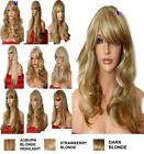 Blonde Mix Wig Natural Long Curly Straight Wavy Party Fashion Ladies HAIR WIG