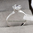 A1-R010 Solitaire Engagement Wedding Ring 18KGP Rhinestone Crystal Size 5.5-100