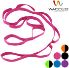 Wacces Yoga Strap Stretch Multi-Grip Fitness Pilates Stretching Belt Multicolor
