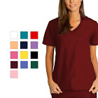 Внешний вид - Adar Women Medical Nurse Uniform Asian Style Mock Wrap Crossover Scrub Top