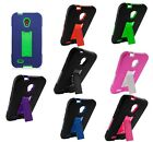 For Alcatel OneTouch Conquest Color Heavy Duty Stand Hybrid Hard Cover Case
