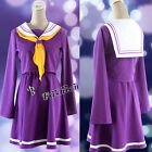2015 New Purple Style NO GAME NO LIFE Shiro Women Anime Cosplay Dress Costume