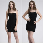 100% mulberry silk knitted  silk full suspender skirt slip basic sleepwear dress