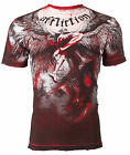 AFFLICTION Men T-Shirt UPWARD Angel Wings RED Tattoo Biker Gym MMA UFC Jeans $63