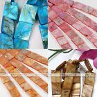 Strand Mother Of Pearl MOP Shell Flat Rectangle Loose Beads Jewelry Finding DIY