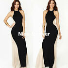 Women's Long Maxi Slim Elegant Contrast Evening Party Prom Dresses N639
