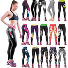 Womens Yoga Sport Pants High Waist Fitness Stretch Leggings Compression Trousers
