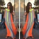 Sexy Women Summer Boho Evening Party Dress Beach Dresses Chiffon Long Maxi Dress