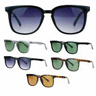 SA106 Mens Thin Plastic Rectangular Keyhole Retro Fashion Horn Rim Sunglasses