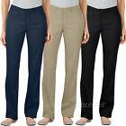 Dickies Pants Womens Curvy Fit Straight Leg Stretch Pant FP602 Black Navy Khaki