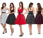 FREE SHIP~ Vintage Rockabilly Swing 1950s 60s pinup Housewife PROM Retro Dresses