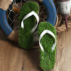 Hoting  Fashion Artificial Lawn slippers Ergonomic grass slippers eva sandals