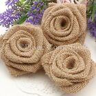 Handmade Burlap Roses for Rustic Country Chic Wedding Decorations