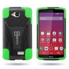Hybrid Armor Protector Phone Cover Case for LG Tribute / Transpyre / Optimus F60