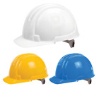 Ox Builders 6 Point Safety Ratchet Helmet Work Hard Hat Bump Cap Impact EN397