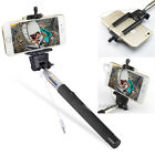 Selfie Wired Stick Holder Remote Shutter Monopod For iPhone 6 5S 5 Andriod Phone