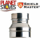 Stainless Shieldmaster Adapter From Twin Wall Flue Pipe To Flexible Flue Liner
