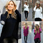 Fashion Women's Ladies Casual Loose Tee Tops Long Sleeve Shirts Blouse Size S-XL