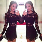 Summer Sexy Women Casual Party Evening Cocktail Short Mini Lace Bodycon Dress