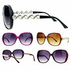 SA106 Womens Pearl Chain Broche Jewel Temple Butterfly Sunglasses