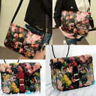 Fashion Women's Floral Hobo Tote Handbag PU Shoulder Bag Satchel Messenger Bag