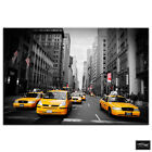 New York NYC Taxi Cab   City BOX FRAMED CANVAS ART Picture HDR 280gsm
