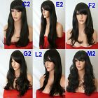 BROWN Curly Layered Full Wig Ladies Fashion Fancy dress wigs #2